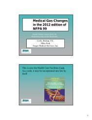 Medical Gas Changes in the 2012 edition of NFPA 99 - Solutions X 2