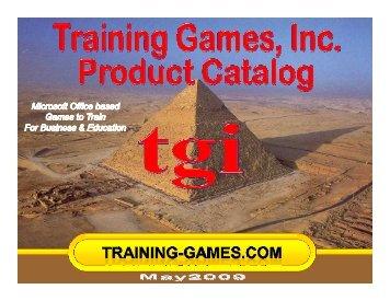 TGI Catalog - Training Games