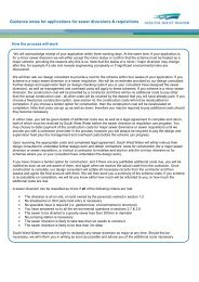 Guidance notes for applications for sewer ... - South West Water