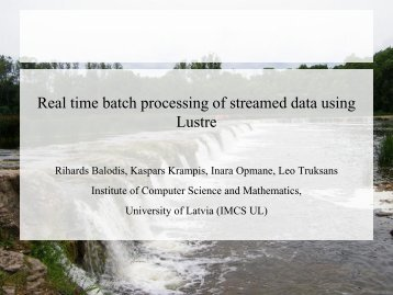 Real time batch processing of streamed data using Lustre