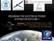 DESIGNING THE ELECTRICAL POWER SYSTEM FOR ESTCUBE-1