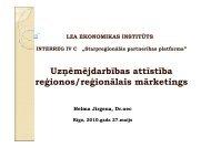 Uzņēmējdarbības attīstība reģionos/reģionālais mārketings - Valsts ...