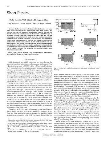Buffer insertion with adaptive blockage avoidance ... - IEEE Xplore
