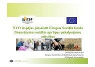 NVO iespējas piesaistīt ESF finansnsējumu sociālās aprūpes ...
