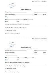 Vordruck Entschuldigung - Merianschule Seligenstadt