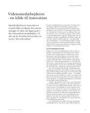 Vidensarbejderen - en kilde til innovation - Hornstrup Kursuscenter