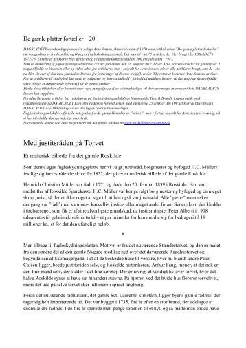 Med justitsråden på Torvet - roskildefugleskydning.dk