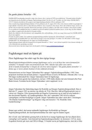 Fuglekonger med en bjørn på - roskildefugleskydning.dk
