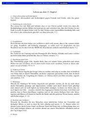 Lehren aus dem 13. Kapitel