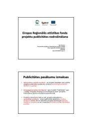 Eiropas Reģionālās attīstības fonda projektu publicitātes ...