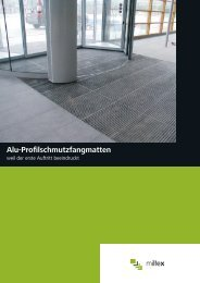 Prospekt der Alu- Profilschmutzfangmatten - Miltex