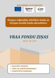 VRAA FONDU ZIŅAS - Valsts reģionālās attīstības aģentūra