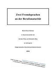 Zwei Fremdsprachen an der Berufsmaturität - admin.ch