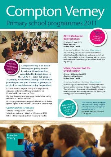 Primary school programmes 2011 - Compton Verney