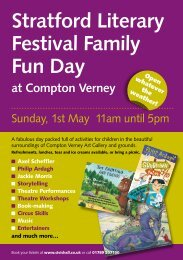 Stratford Literary Festival Family Fun Day at Compton Verney