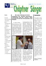 Ausgabe 2001 - Nr 1 - Preis CHF 5