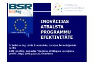 inovācijas atbalsta programmu efektivitāte - Valsts reģionālās ...