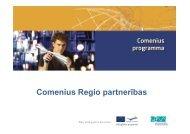 Comenius regio - Valsts reģionālās attīstības aģentūra