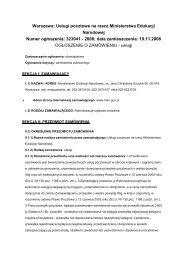 Usługi pocztowe na rzecz Ministerstwa Edukacji Narodowej - BIP MEN