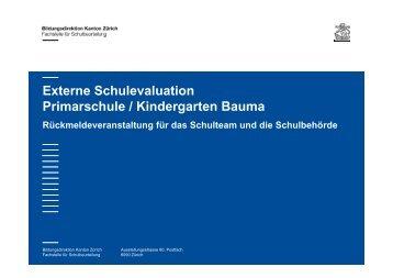 Evaluation Primarstufe Kindergarten - schulebauma.ch