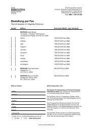 Bestellung per Fax