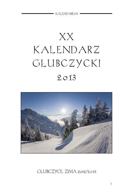 Xx Kalendarz Gâubczycki 2013