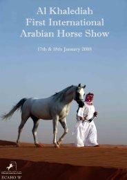 Show Info & class information - Arabian Horse Source
