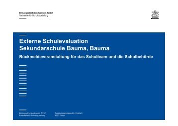 Evaluation Sekundarstufe - schulebauma.ch