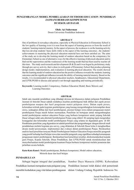 Jurnal Penelitian Pendidikan Pdf