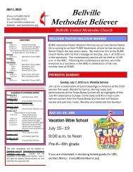 July 1, 2013 - Bellville United Methodist Church