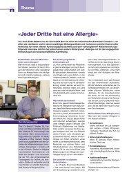 Thema Allergien: mit Prof. Beda Stadler und GL aha!
