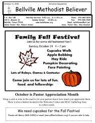 October 11, 2010 - Bellville United Methodist Church