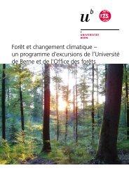 Forêt et changement climatique – un programme d'excursions de l ...