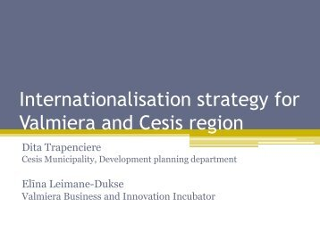 Internationalisation strategy for Valmiera and Cesis region