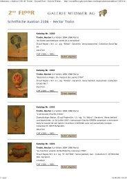Auktionen: » Auktion 2106 (H. Trotin) - Second Floor - Galerie ...
