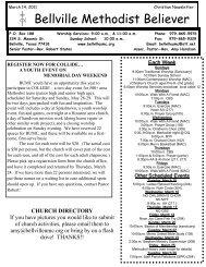 March 14, 2011 - Bellville United Methodist Church