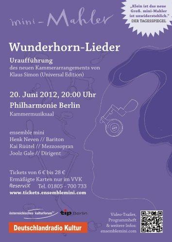 Wunderhorn-Lieder