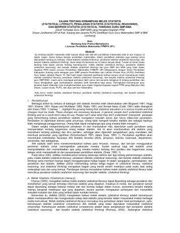 statistical reasoning - Jurnal UPI
