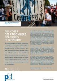 Aux côtés des prisonniers politiques et d'opinion - Peace Brigades ...