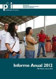 Informe Anual PBI México 2012 - Peace Brigades International
