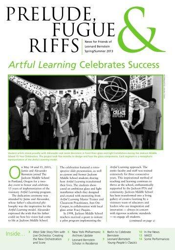 Artful Learning Celebrates Success - Leonard Bernstein