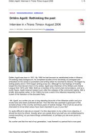 Dritëro Agolli: Rethinking the past Interview in »Tirana Times ...