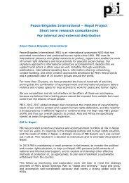 130330 PBI Nepal research consultancies-1 - Peace Brigades ...
