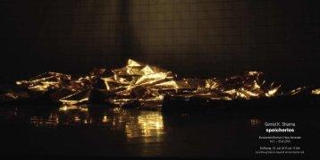Gerriet K. Sharma speicherlos - Kunstverein Bochum eV
