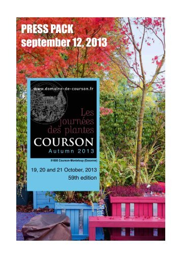 Press Release - Domaine de Courson
