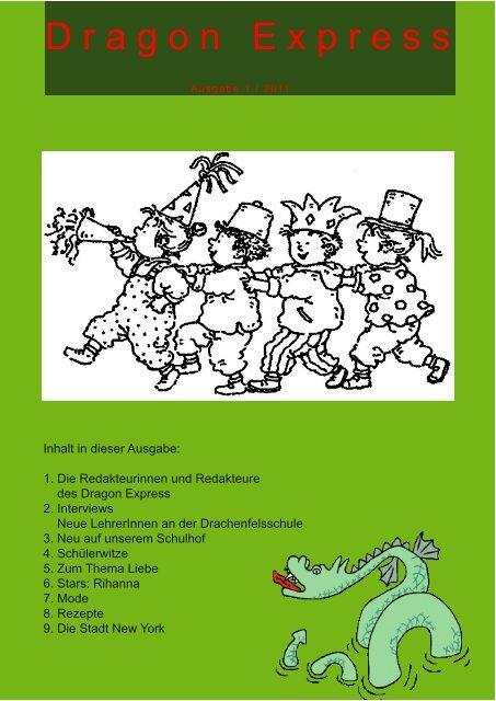 neue Ausgabe des Dragon Express - Drachenfelsschule