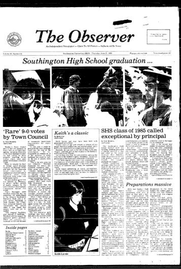Southington High School graduation - Southington Library and ...