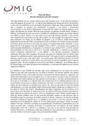 Mercado Diario Rescate Financiero dos días después ... - MIG Bank
