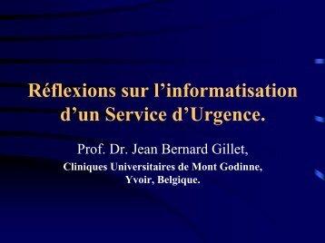 Réflexions sur l'informatisation d'un Service d'Urgence. - Institut d ...