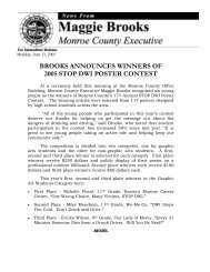 brooks announces winners of 2005 stop dwi poster contest